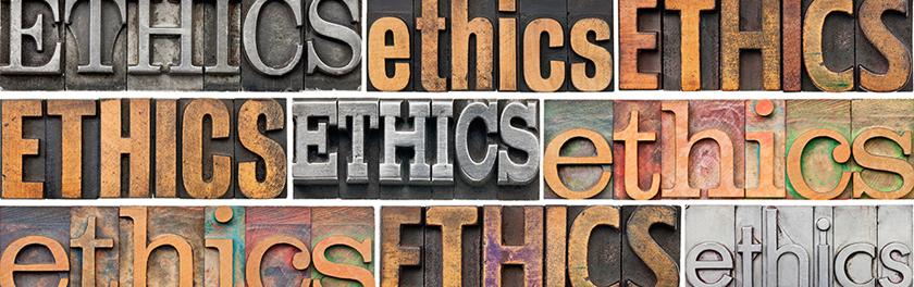 Ethics Typography
